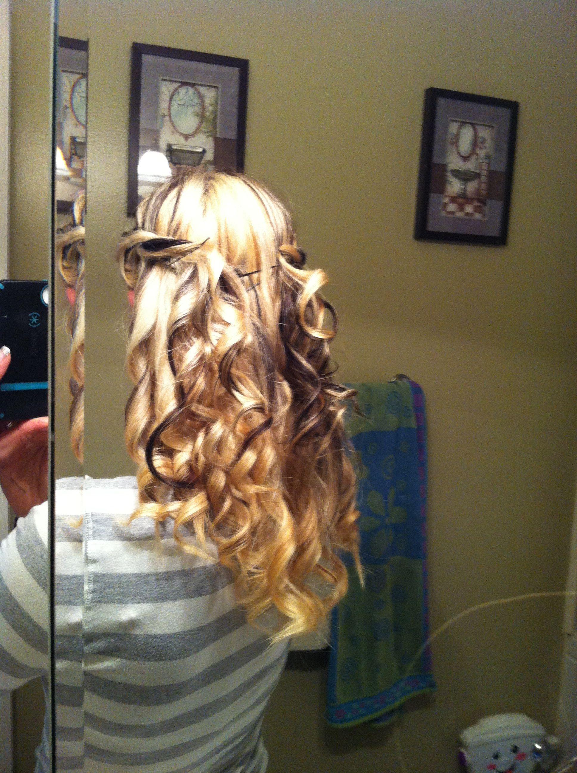 Quick cute curls long hair hairstyles pinterest