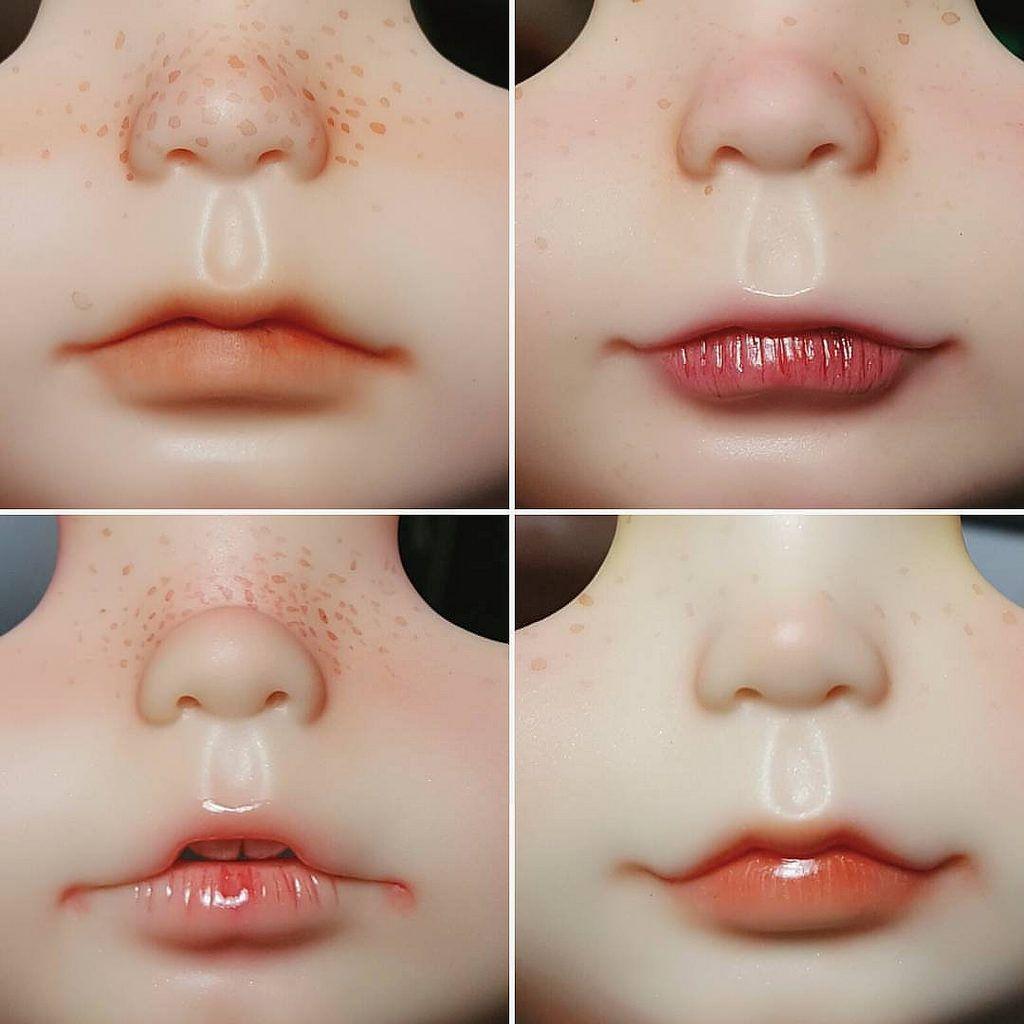 Lips. #blythe #blythedoll #blythecustom #blythethailand #blythecustomdoll #doll #dolls #dollface #dollfaceup #dollartistry #dollstagram #littledollsroom #dollphotography #littledollsroombaby #lipcurve