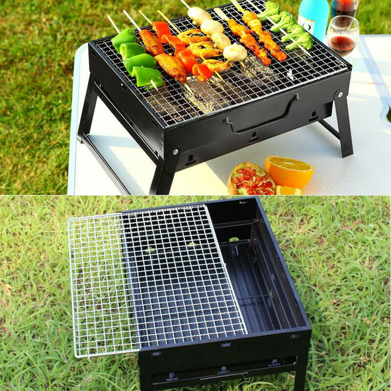 Outsoor portable Folding Grills Stainless steel Small Barbecue Stove  Charcoal BBQ Grill Patio Camping Picnic Burner Foldable | Grilling,  Charcoal bbq grill, Bbq