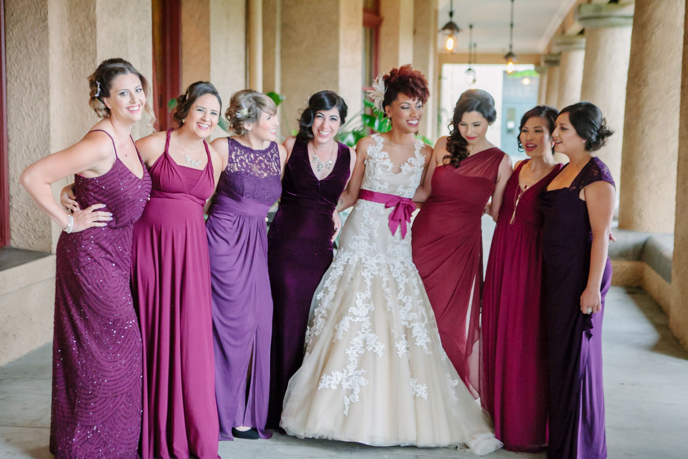 Perfectly mismatched bridesmaids same color family different styles perfectly mismatched bridesmaids same color family different styles picked ombrellifo Gallery