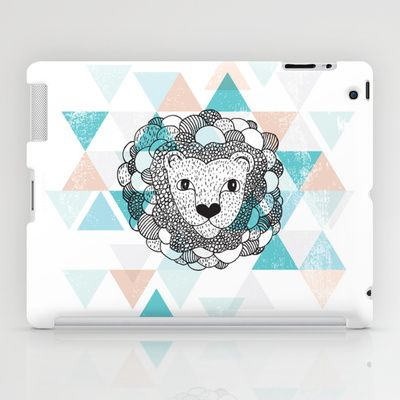 Some fashionable inspiration and new trends for your online birthday or christmas shopping spree. Geometric Lion  iPad Case by Little Smilemakers Studio - $60.00