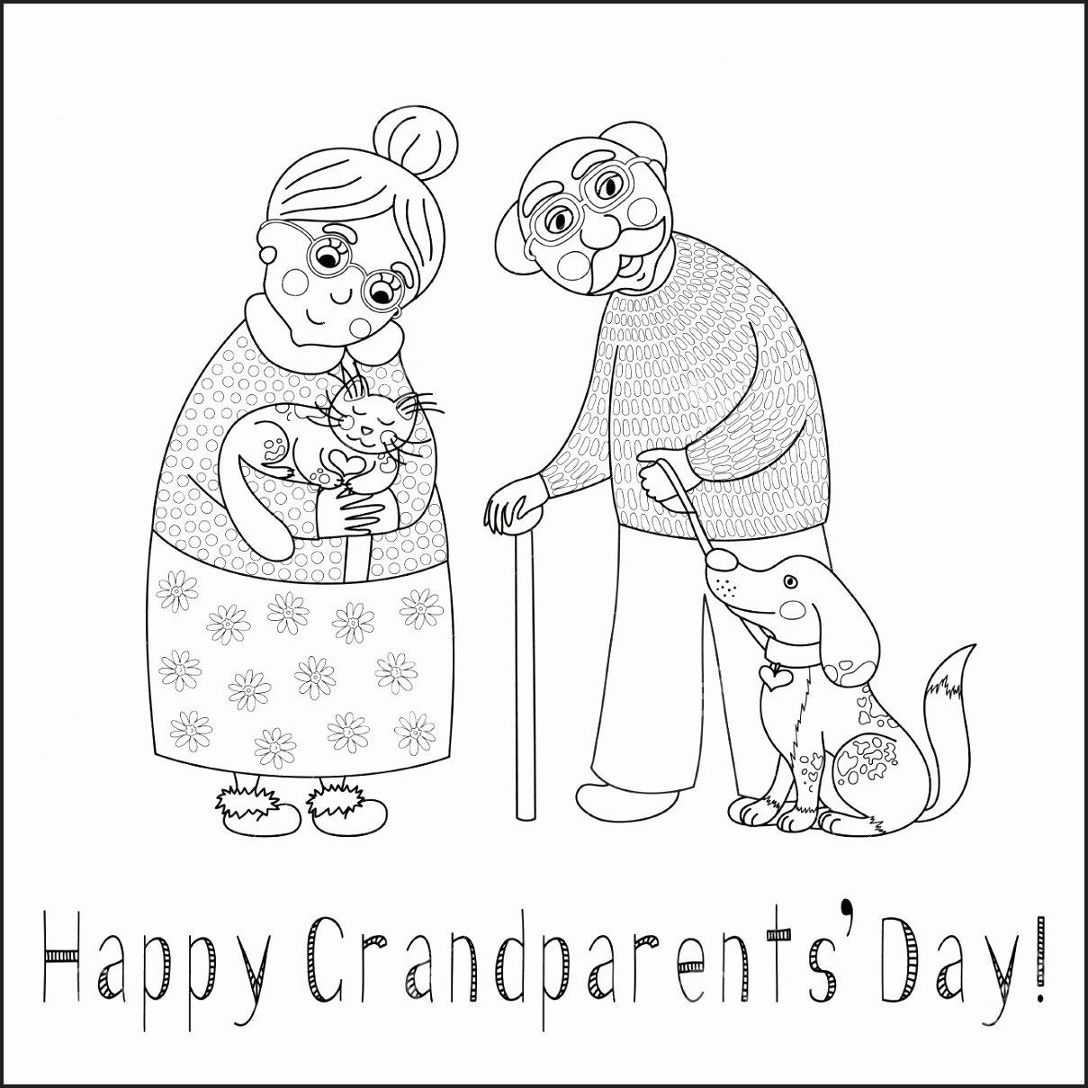 Grandparents Day Coloring Pages New Grandparents Day