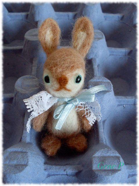 Tiny bunny by GeneP.doll, via Flickr