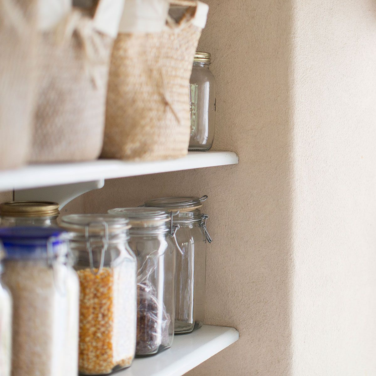 The Secret To Storing Food Cupboard Essentials Food Eat Happy