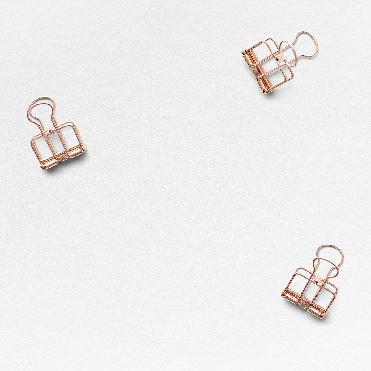 Download Premium Psd Of Rose Gold Paperclip Background Design 1202174 Paper Clip Background Design Rose Gold