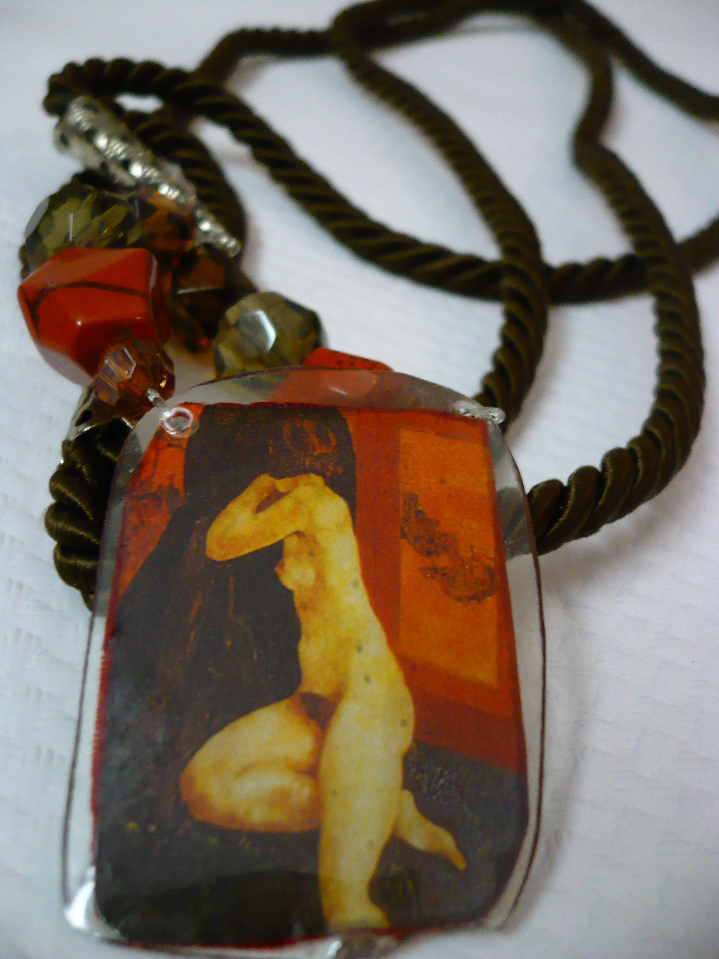 Necklace in resin Creation of Rossana Rubino