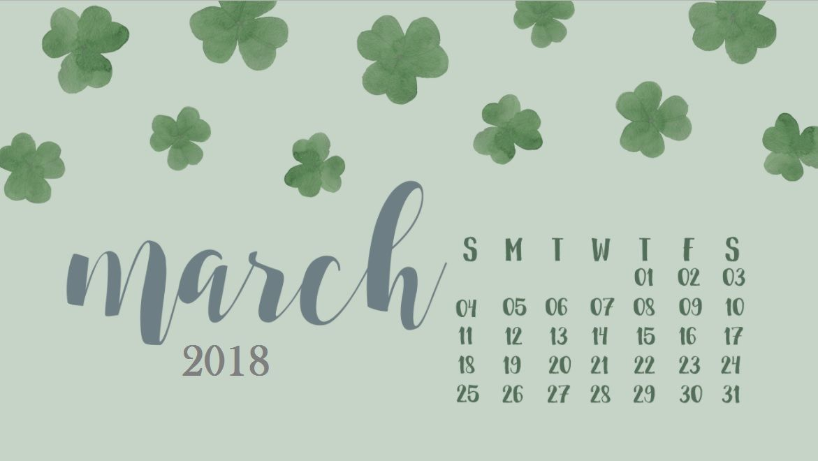 Cool March 2018 Wallpaper Calendar