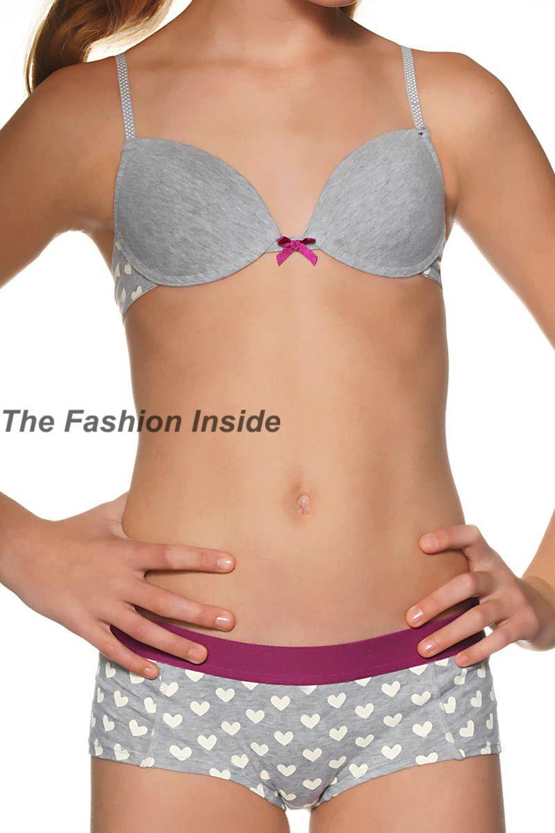 0b54f87462 The Fashion Inside  Boobs and Bloomers - Lovehearts Boyshort Brief Tween  Fashion