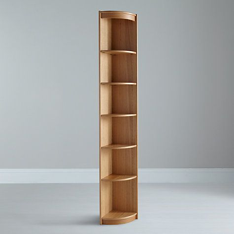 corner shelving - Google Search - Buy John Lewis Agatha Tall Narrow Bookcase, Oak Online At
