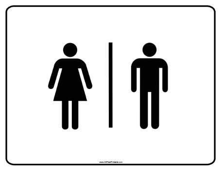photograph about Bathroom Sign Printable titled Cost-free Printable Lavatory Signs and symptoms -  Mattress place Options