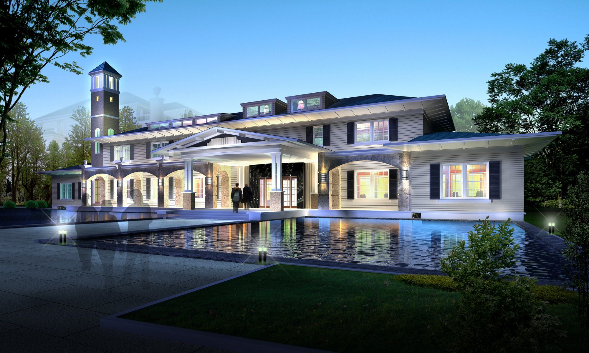 Building 308 3D Model High detail building model with
