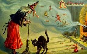 Primitive Passion Decorating Vintage Halloween Cards To Share