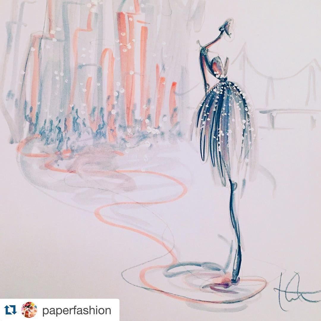 """""""#Repost @paperfashion with @repostapp. #ShadowDancers in Manhattan. One of many pieces created with @winsorandnewton @pigmentmarker for an upcoming…"""""""