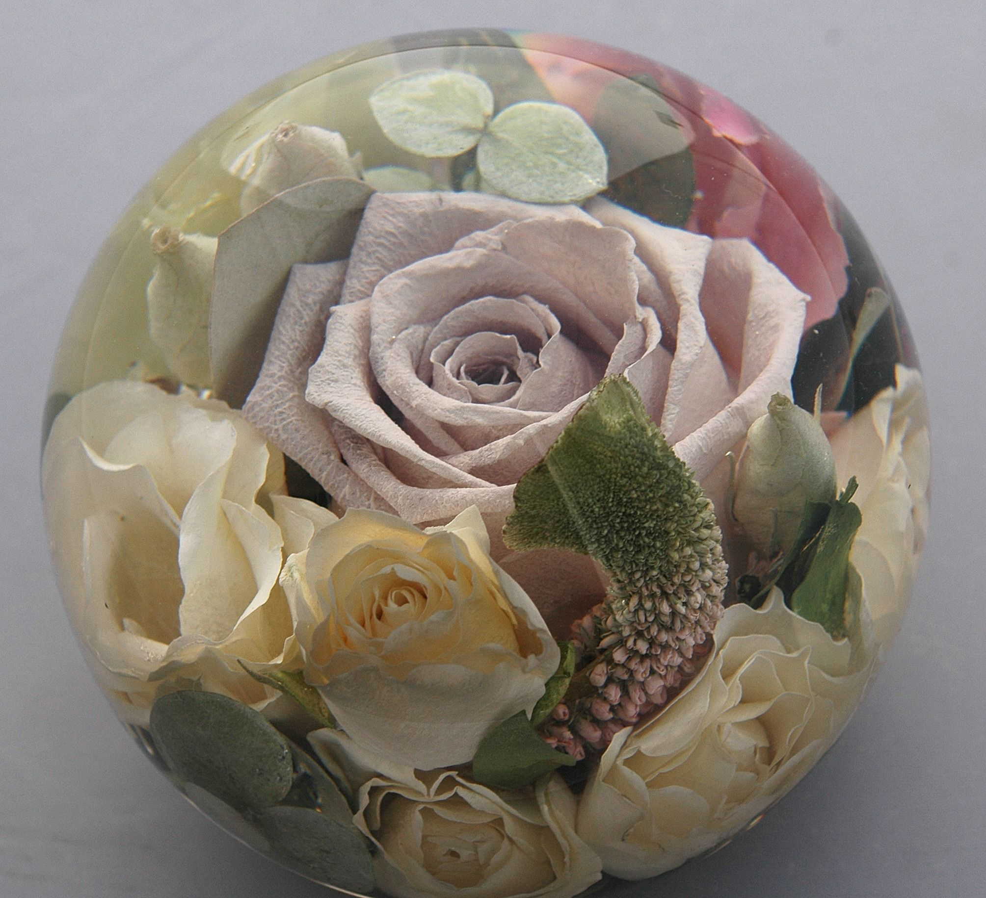 Priced From 32900 45 Mixed Luxury Flower Paperweight Glass
