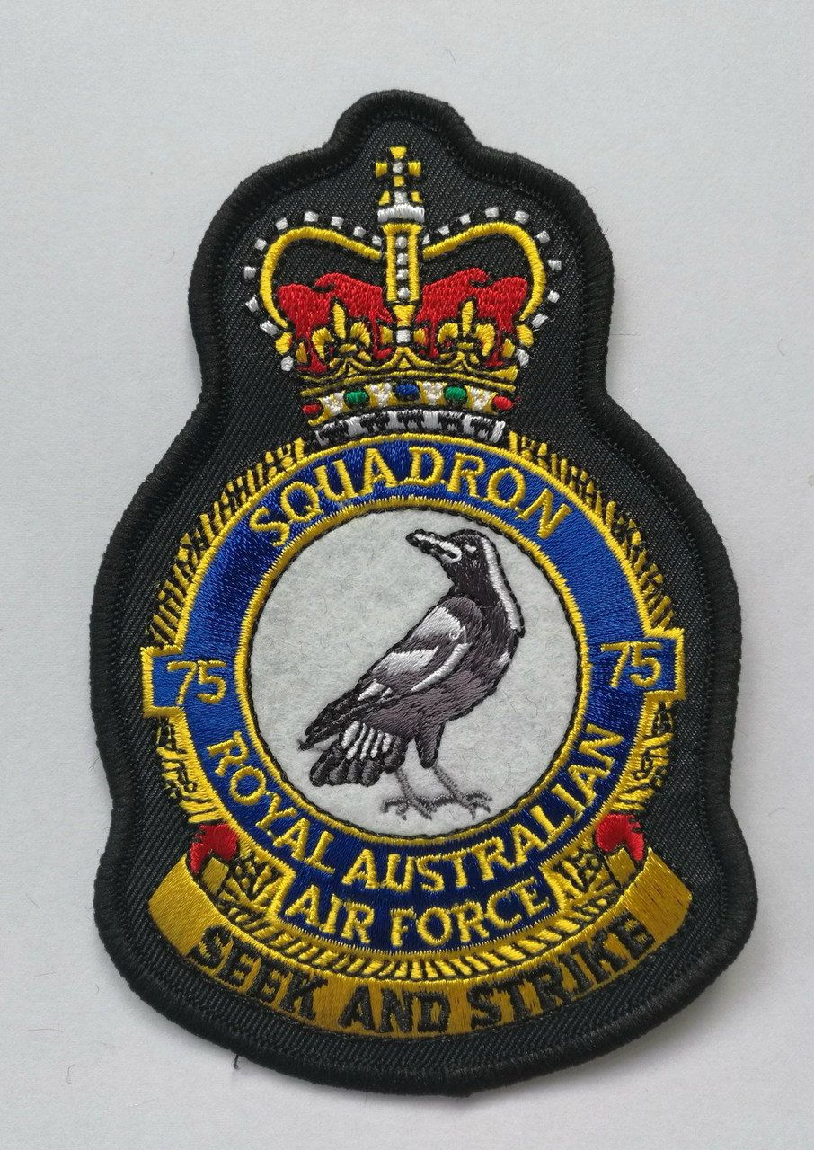 75 Sqn CREST PATCH Crest, Patches, Military insignia