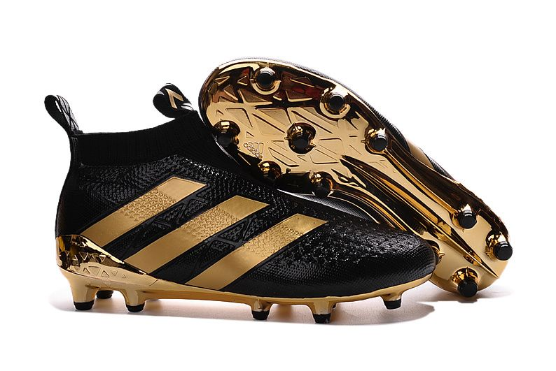 finest selection 02fa5 4f9db adidas Ace16+ Purecontrol Black Gold Waterproof Football Boots