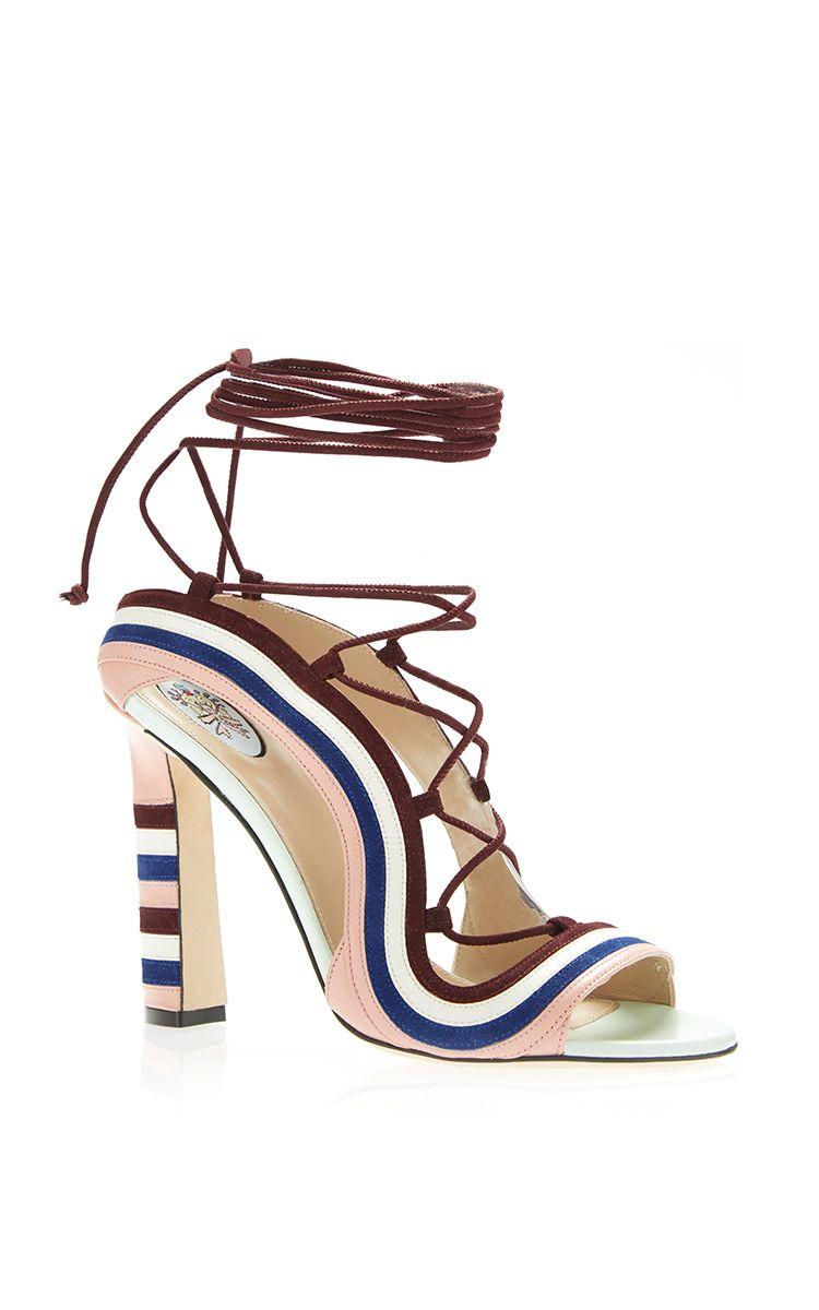 2017 New Cheap Womens Paula Cademartori 'crazy Stripes' Sandals  Online Shop