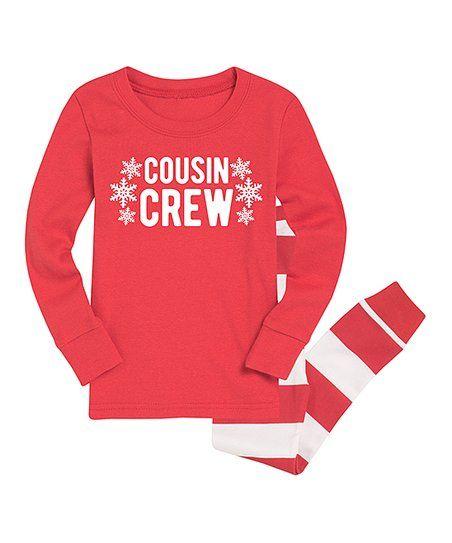 e80c3067e Nap Chat Family Red Cousin Crew Snowflake Pajama Set - Toddler & Kids |  zulily