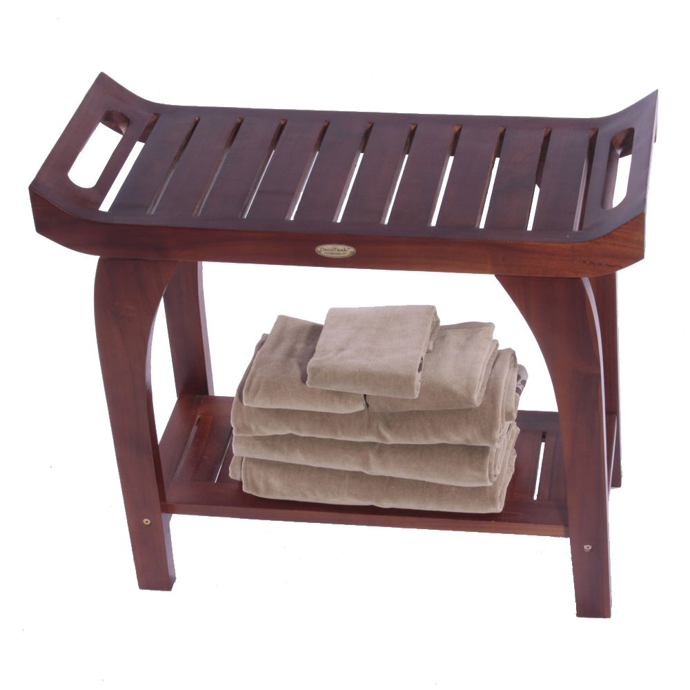 Awe Inspiring Decoteak Tranquility 30 Inch Teak Shower Bench Extended Andrewgaddart Wooden Chair Designs For Living Room Andrewgaddartcom