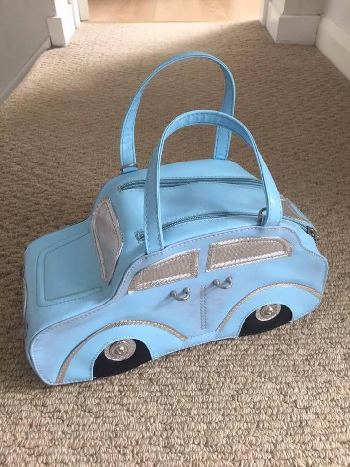 Pale Blue Car shaped handbag | eBay