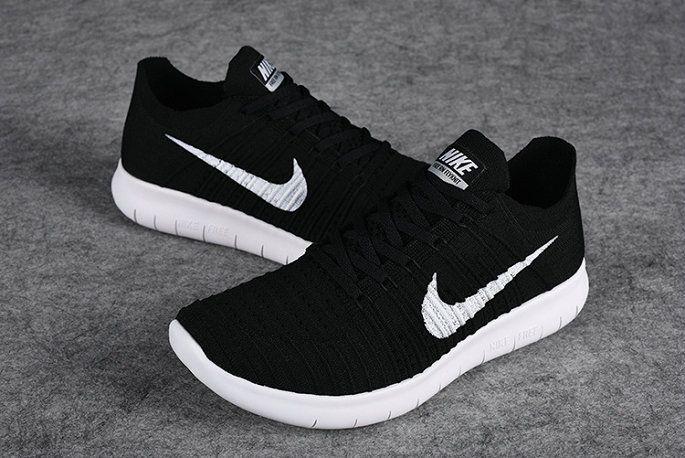 51f649afc510e Nike Free Rn Flyknit 2018 Black White Black 831069-001 Popular Shoes