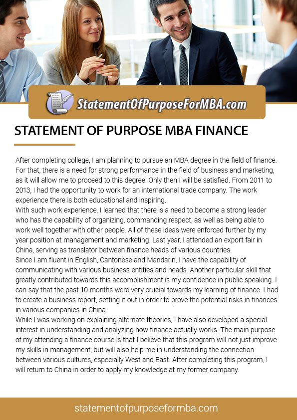 pin by mba statement of purpose samples on statement of purpose mba finance