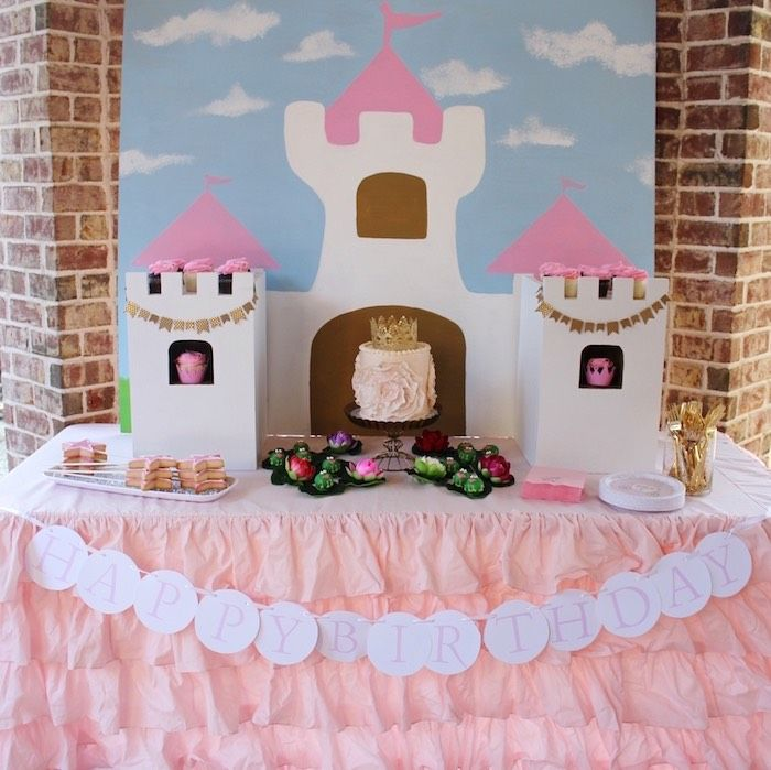 Head Table from a Princess Birthday Party via Karas Party Ideas