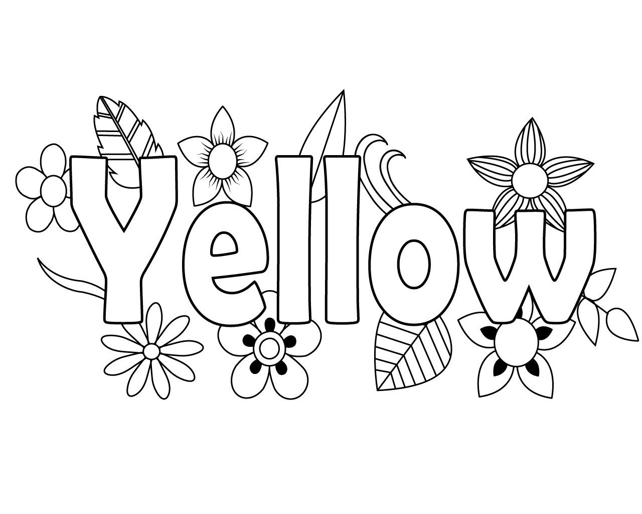 Fantastic Yellow Coloring Pages Printable
