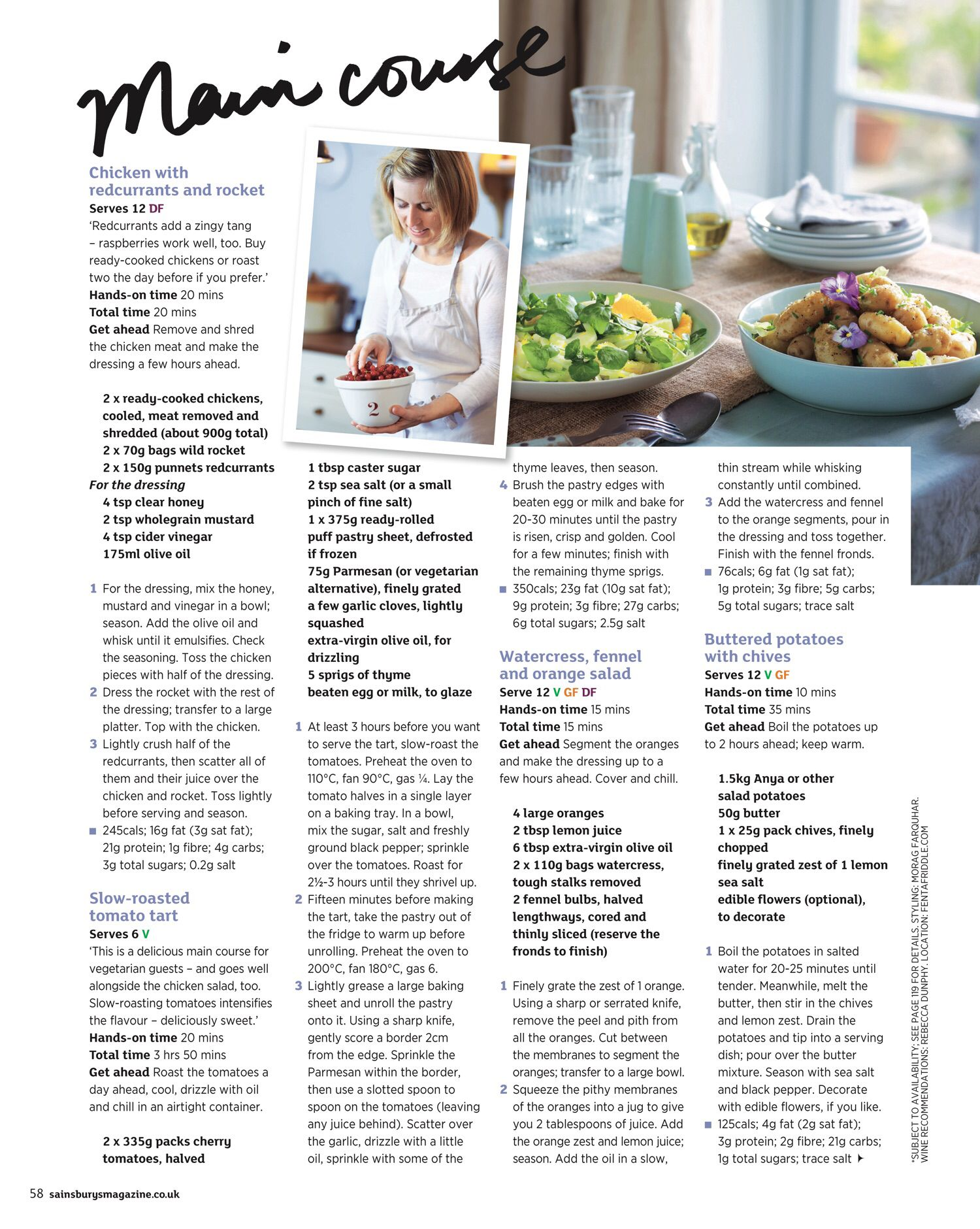 page 58 of sainsbury's magazine  august 2015   how to