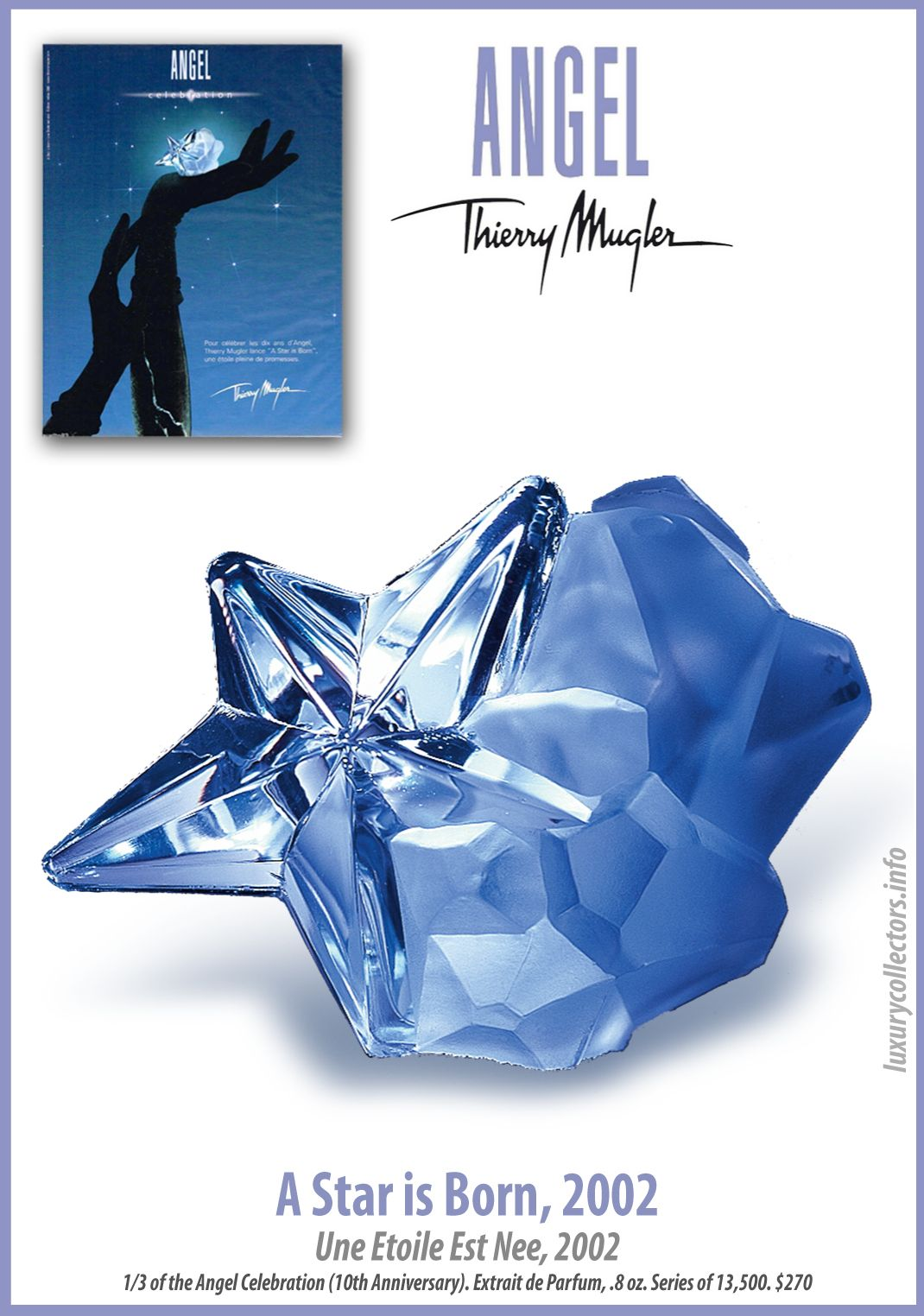 Thierry Mugler Angel Perfume Collectors Limited Edition Bottle 2002