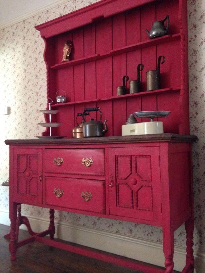 Unique Vintage Painted Welsh Dresser Annie Sloan