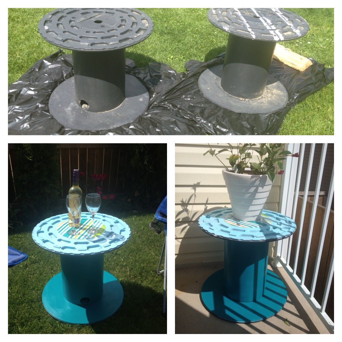Do It Yourself Home Design: Plastic Cable Spools-free Spray Paint- $4 Plastic Place