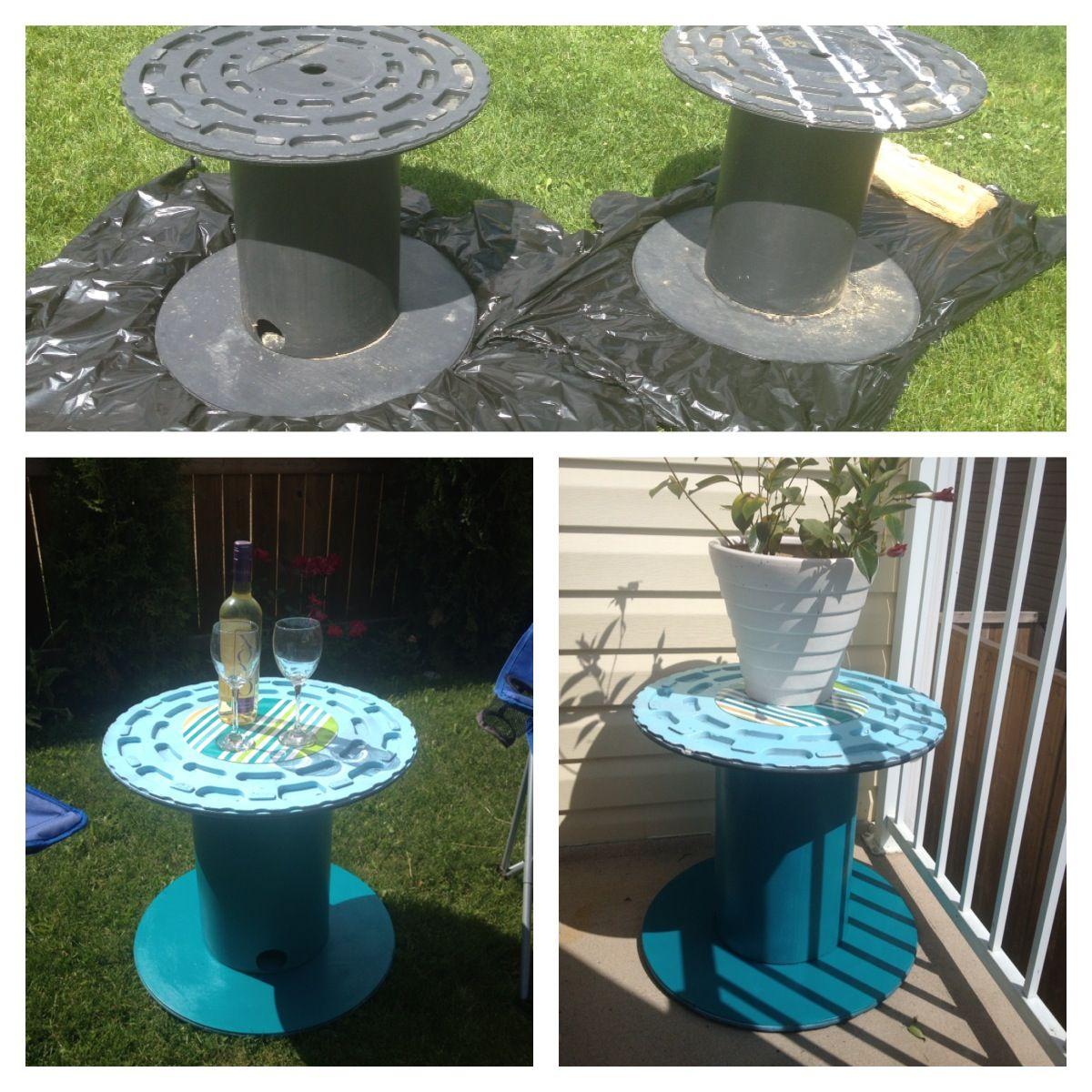plastic cable spools free spray paint 4 plastic place mats 2