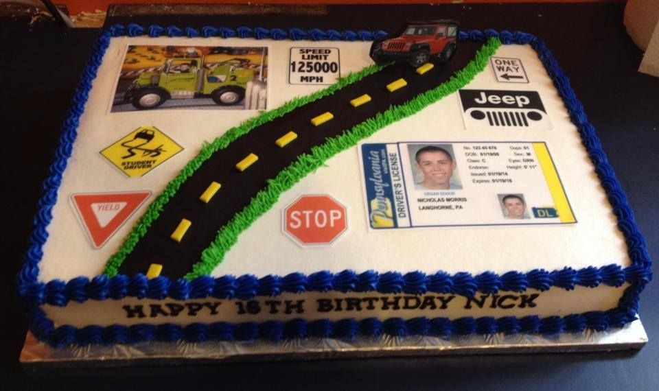 New Driver Cake With Images Boy 16th Birthday Boys 16th