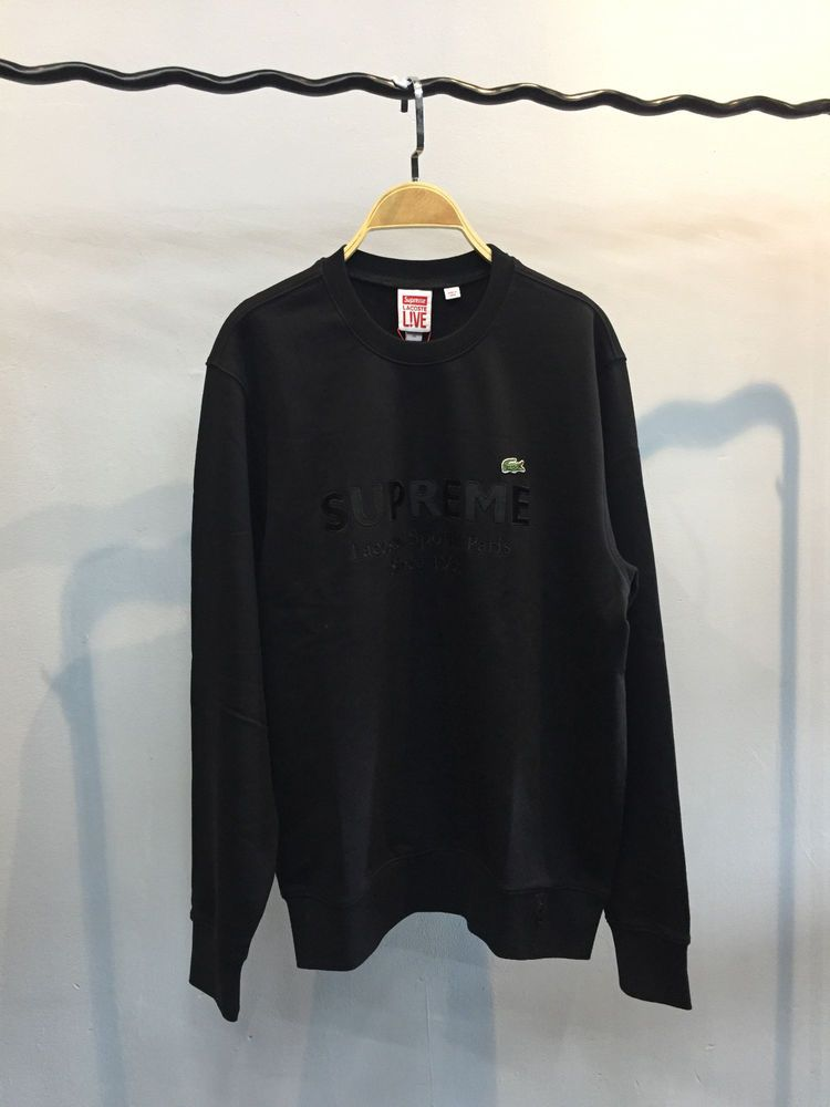 ea89257a0bd6 Brand New Supreme X Lacoste Men s Sweater Size Medium Color Black  fashion   clothing  shoes  accessories  mensclothing  sweaters (ebay link)