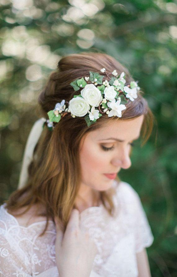 Ivy crown, leaf crown, ivy flower crown, bridal flower crown, ivy ...