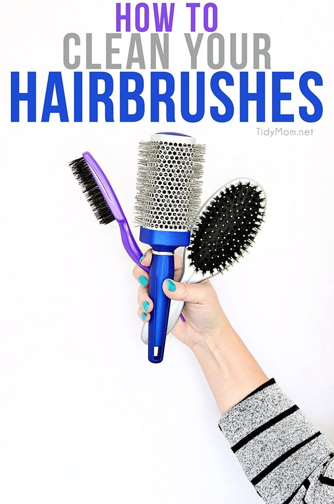 How To Clean Hairbrushes Clean Hairbrush Hair Brush Cleaning Hacks