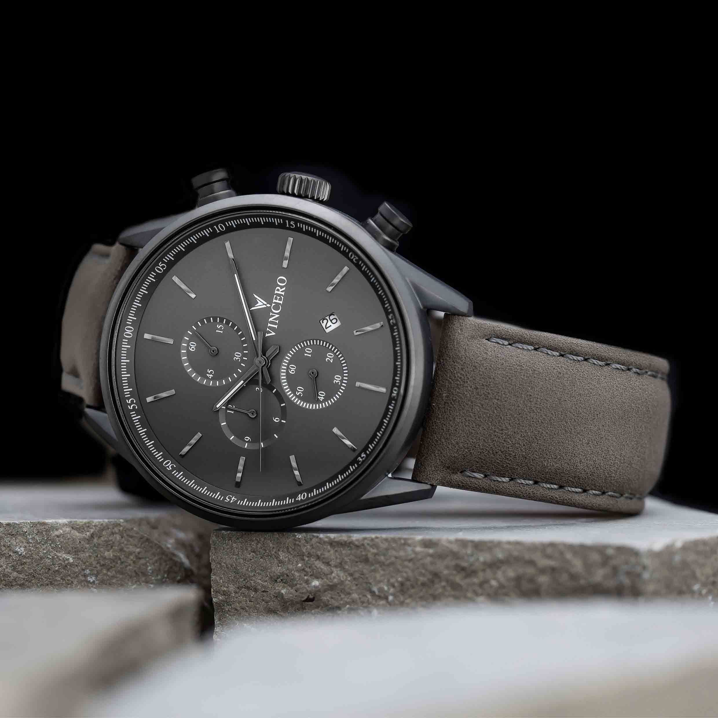 The Chrono S Matte Gray in 2020 | Leather watch bands