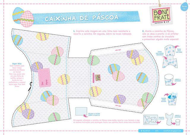 Caixinhas de Páscoa (PAP com molde) by BoniFrati ® bonifrati.com.br, via Flickr