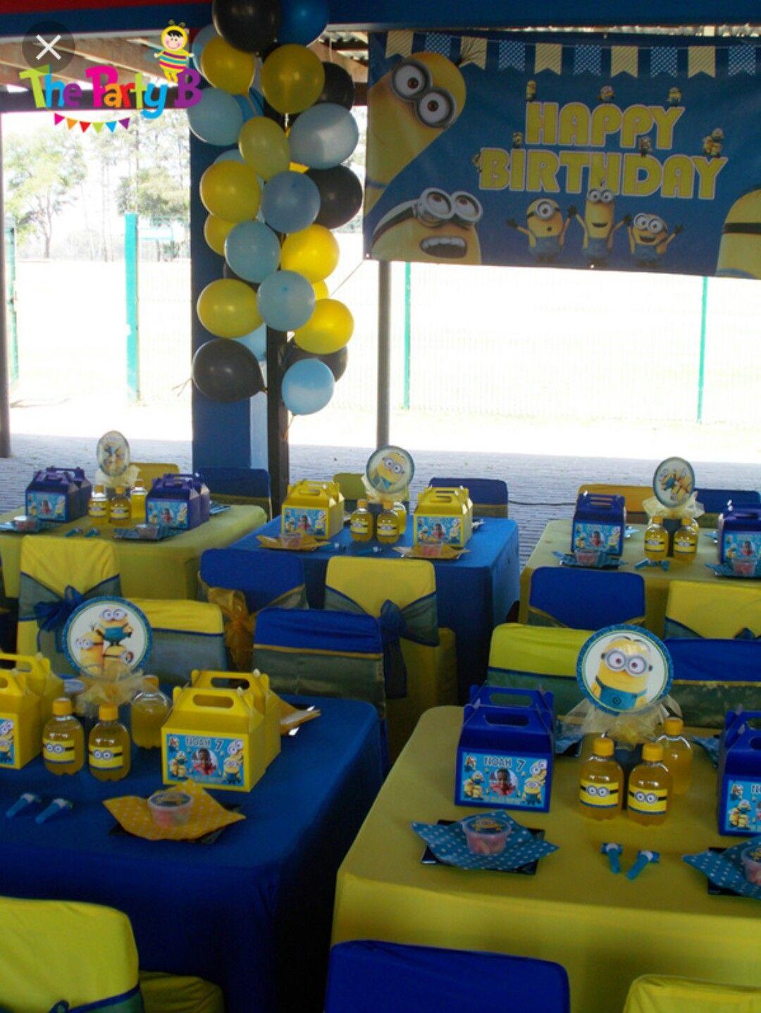 Minion Birthday Party … | Minion birthday, Minions ...
