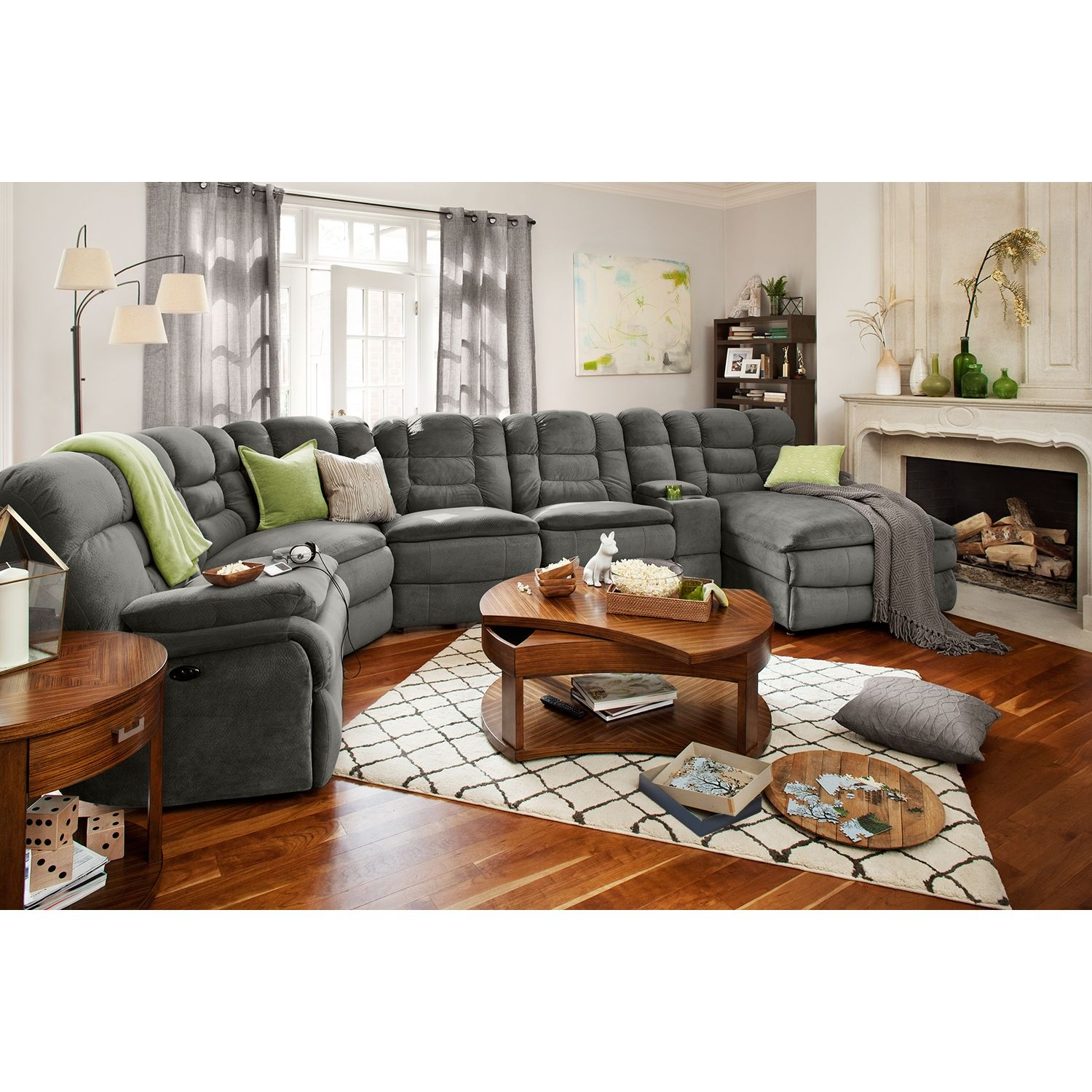 Best Big Softie 6 Piece Power Reclining Sectional With Chaise 400 x 300