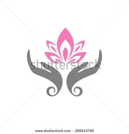 Hands Care Lotus Hands Holding A Lotus Flower Vector Icon Stock