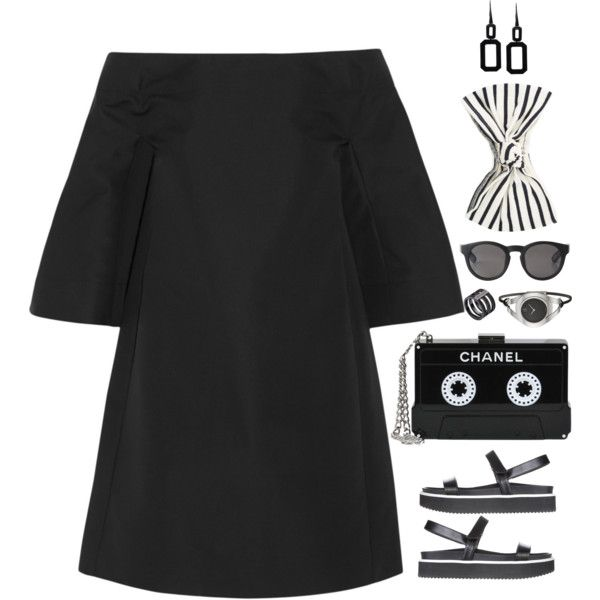 Sydney by xoxomuty on Polyvore featuring Marni, CHARLES & KEITH, Chanel, Rebecca, Michael Kors, Calvin Klein, Eugenia Kim and Monki