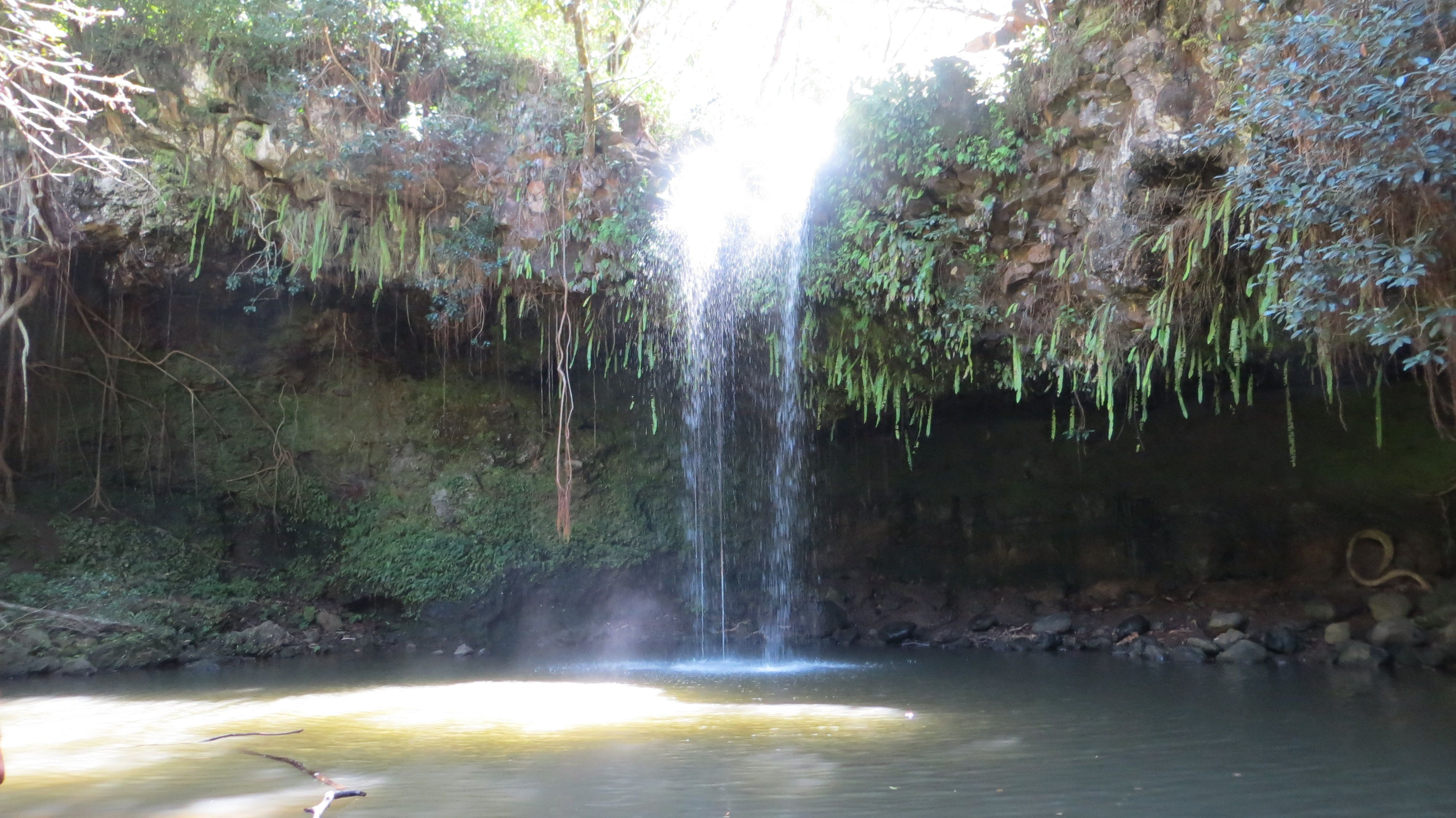 Twin Falls in Ha'ikū, HI