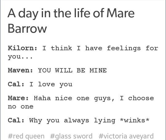 Basically Mare I Know You Would Choose Cal I Knew It With