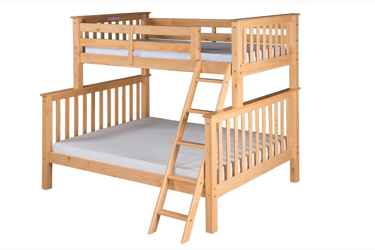Camo loft bed with slide  Santa Fe Mission Tall Bunk Bed Twin over Full  Angle Ladder