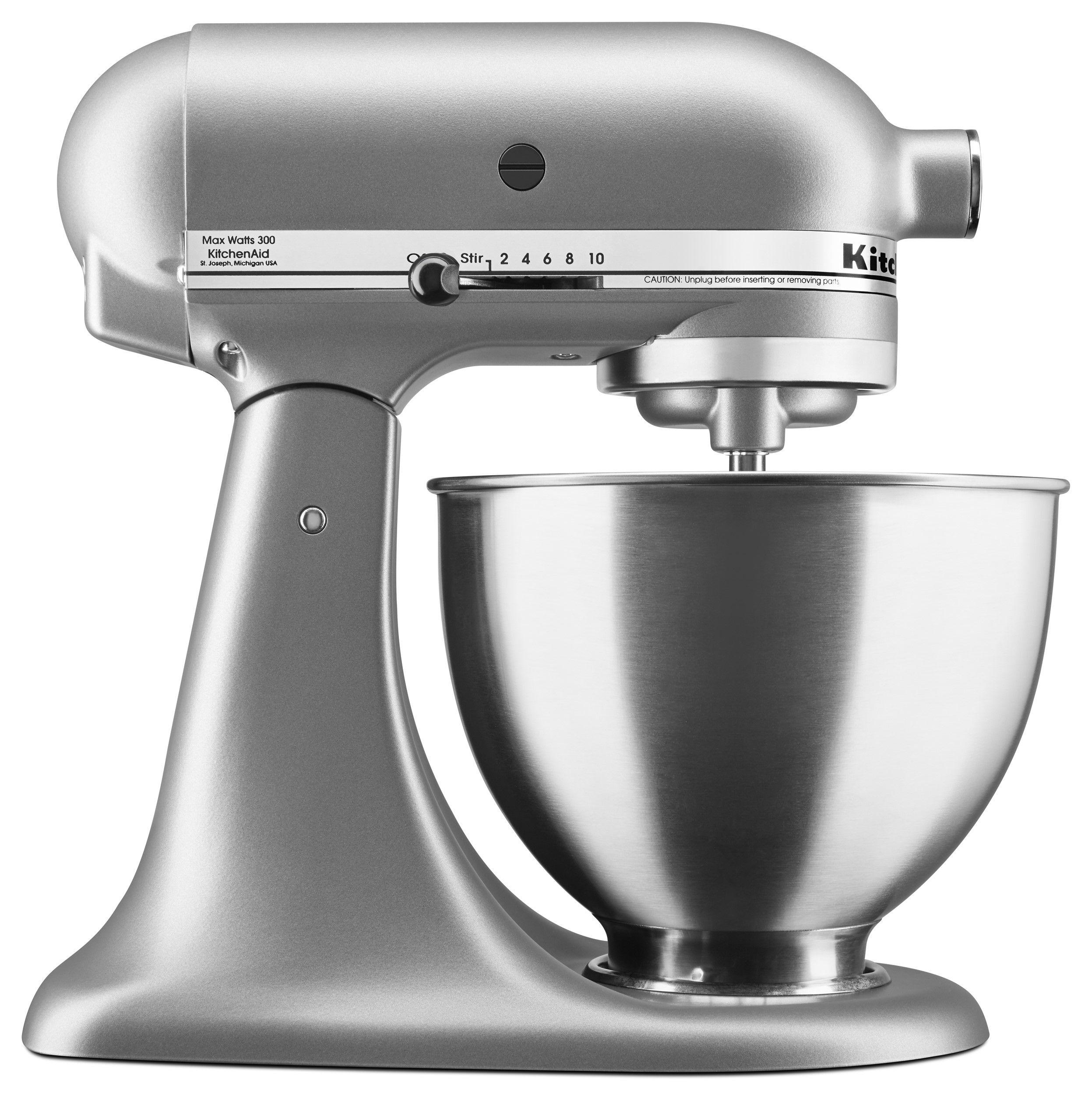 Kitchenaid deluxe 45 quart stand mixer silver ksm88sl