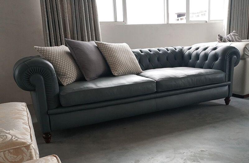 China Chesterfield Leather Sofa Manufacturers