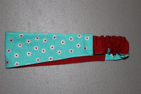 Reversible Women's Fabric Headband by KnottySeamstress on Etsy