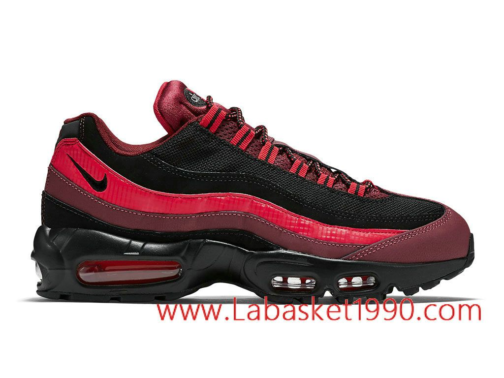 cheap for discount 50470 aeeb8 Nike Air Max 95 749766600 Chaussures Nike Prix Pas Cher Pour Homme Rouge  Noir